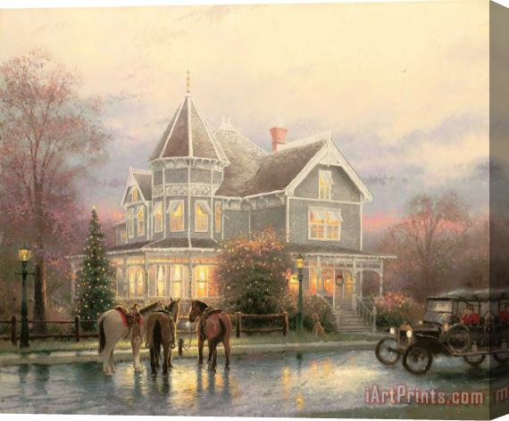 Thomas Kinkade Christmas.Art Prints Thomas Kinkade Christmas Memories Stretched Canvas Print Canvas Art